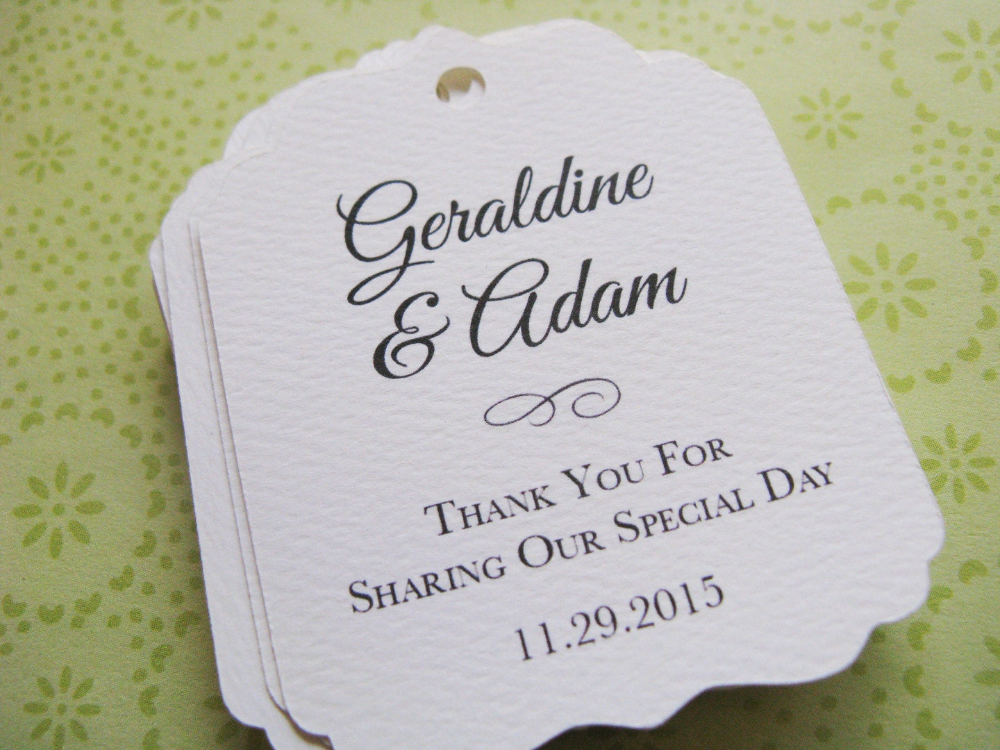Personalised Wedding Gift Tags : Wedding favor tags Personalized tags for wedding favors