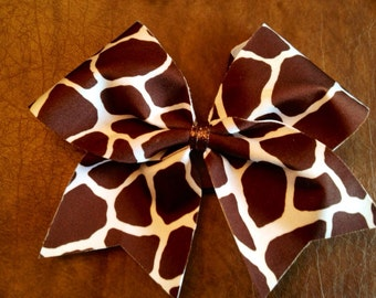 Cheer Bow - Giraffe