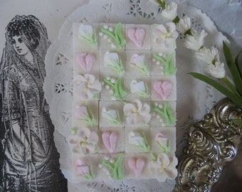 Wedding style decorated sugar cubes