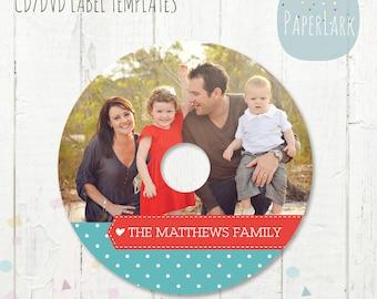 CD/dvd label photoshop template - ES006 - INSTANT Download