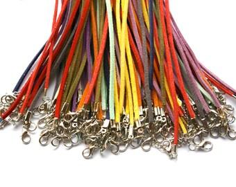 Adjustable Suede Leather Bracelets- PLUM - Set of 6