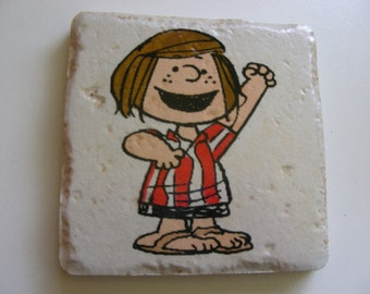 Peanuts character-Peppermint Patty  Tile Coasters