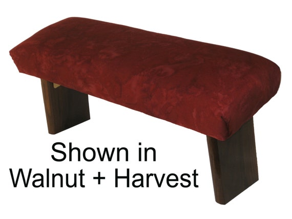 Folding Prayer Bench Walnut Meditation Bench
