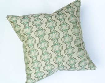 """Mid Century Modern style Accent Pillow  - 17"""" x 17"""" feather/down"""