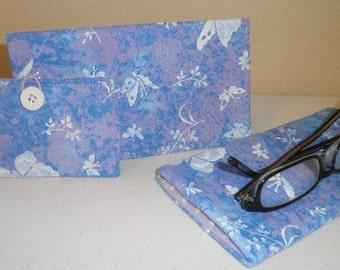 Checkbook cover/eyeglass case/card holder sets