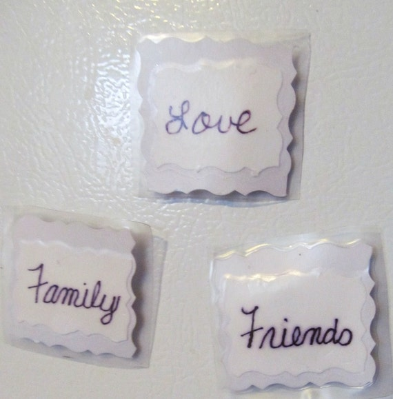 Love, Family, Friends Magnets Set of 3