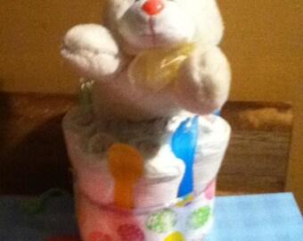 Mini Diaper Cakes Etsy