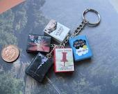 John Green collection book charm keychain