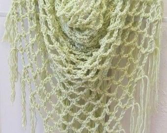 Sale Crochet Pattern Open Lace Arch Shawl