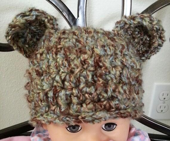 Crochet Pattern Chunky Baby Hat Bear Hat Animal by ...