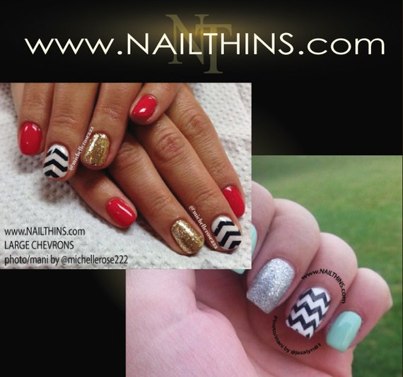 Items Similar To CHEVRON Nail Decal Zig Zag Full Nail Wrap