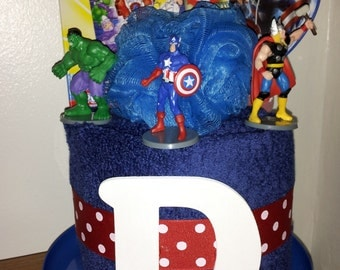 Super Hero Towel Cake
