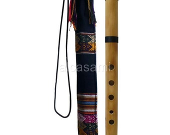 Professional Bamboo Chacon Quena Flute in G & Case