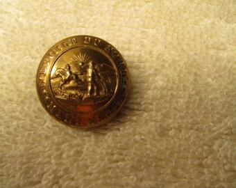 antique military button, minnesota