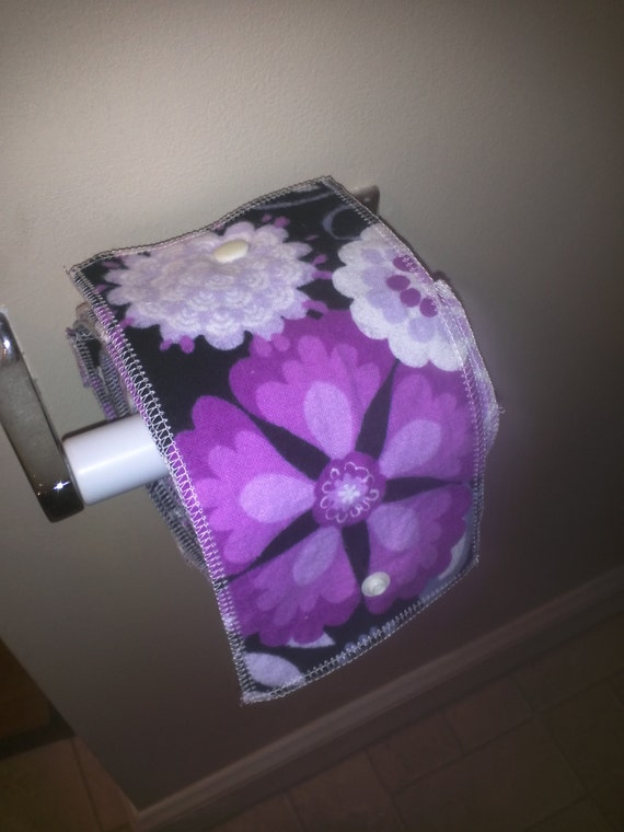 """Roll of 20 Family Cloth with adapter, Cloth Toilet """"Paper"""""""