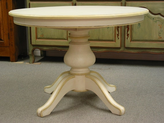 round diningtable single pedestal dining table french provincial