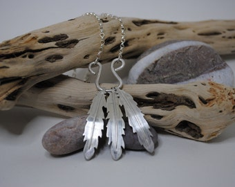 Feather Sterling Silver Necklace