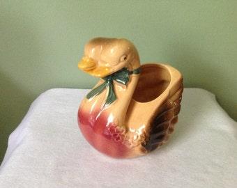 Vintage LoveBirds Swan Planter