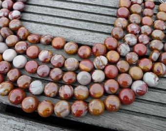 Noreena Jasper 11-14mm Button beads (ETB00225)