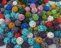 200 PCS X 10 MM Shamballa beads disco.balls    in muti colors special price