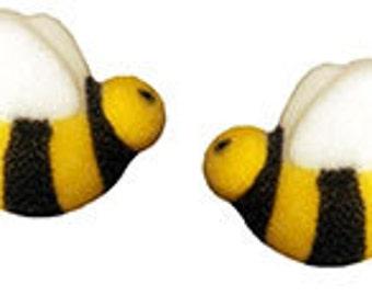 120 Edible Bumble Bee Sugar Decorations Simply Darling