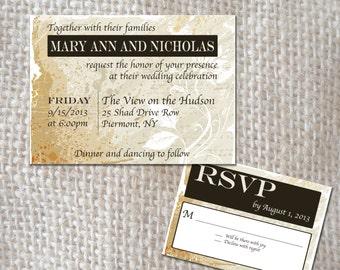 Wedding Invitation Set - Vintage Elegance