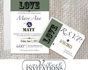 Wedding Invitation Set - Love in Color