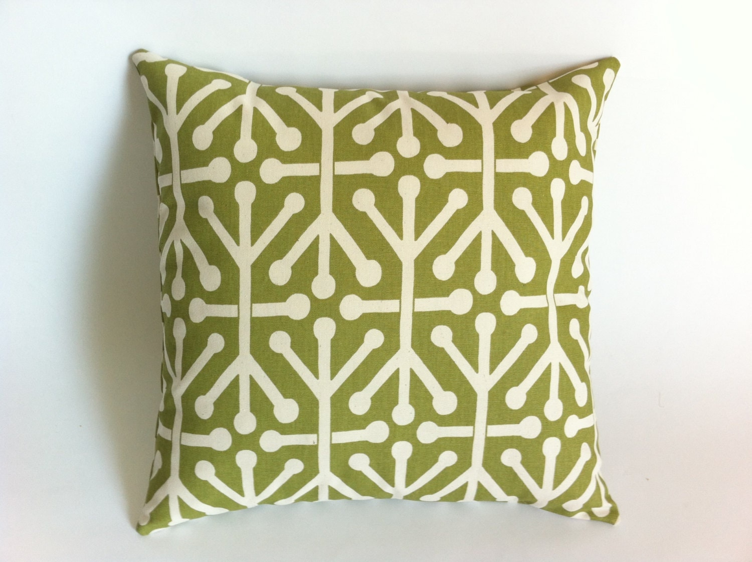 Olive Green Decorative Pillow : One Olive Green Decorative Throw Zippered Pillow by Pillomatic