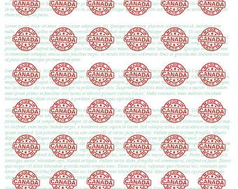 """MADE IN CANADA Canada Day 1"""" Round instant download Digital Print out Collage Sheet for craft projects"""