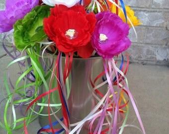 Peony Flower Wand