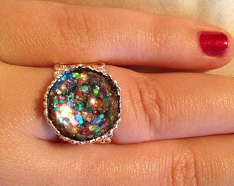 Rainbows All Around Nail Polish Ring