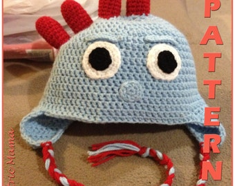In the Night Garden - Iggle Piggle Beanie - Adjustable Size - Crochet Pattern