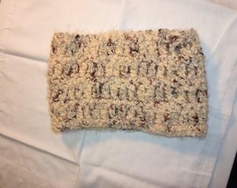 Cozy Crocheted Cowl in Beige