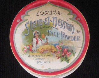 Rare Shem-El-Nessim Face Powder Box - J. Grossmith & Son