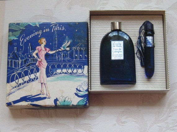 1940 S Evening In Paris Perfume And Cologne In Original
