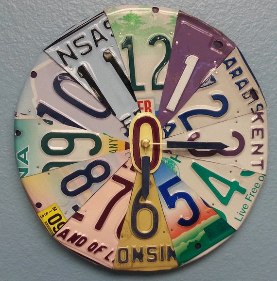 Recycled Clocks on Etsy