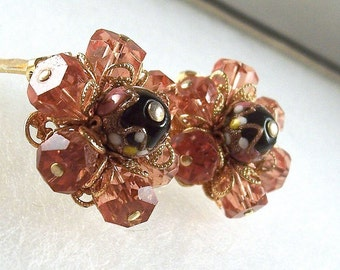 Signed Eisenberg Earrings. Unique vintage, antique costume, estate jewelry