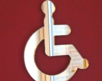 Disabled Mirror Sign / Disabled Toilet Door Sign - 5 Sizes