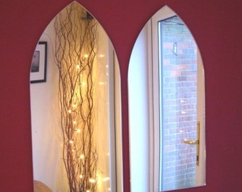 Gothic Arch Mirrors - Pack of Two or Pack of Three Mirrors 45cm x 20.5cm each