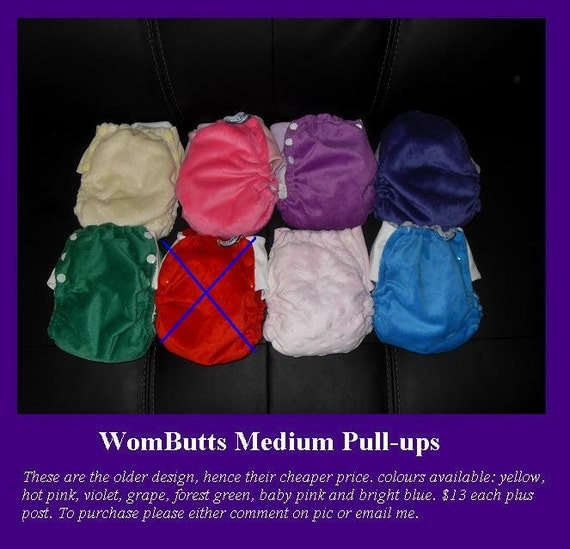 wombutts pull up cloth nappy medium by wombutts on etsy