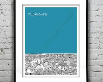 Vilamoura Portugal Poster Art Print  Skyline