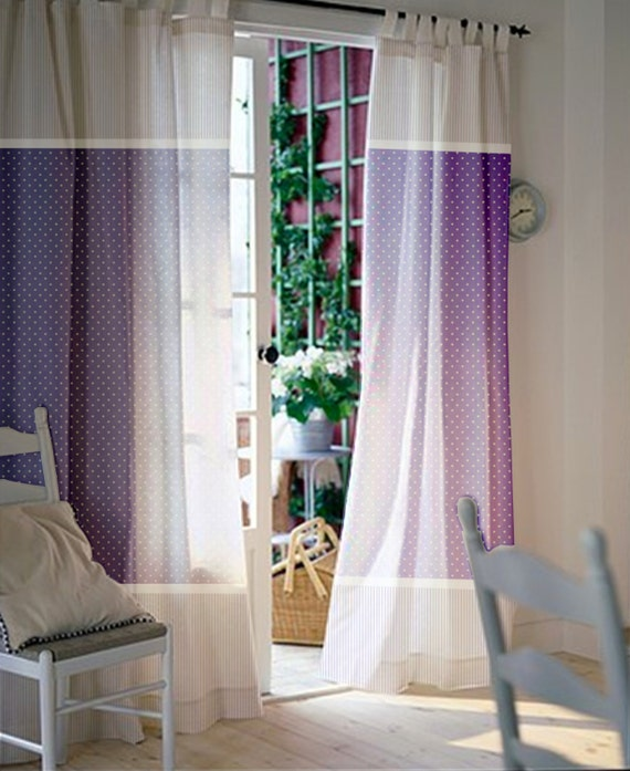 Window curtains / Nursery curtains / Kids curtains / Purple