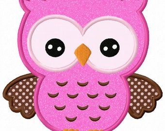 Owl Applique Machine Embroidery Design NO:0015