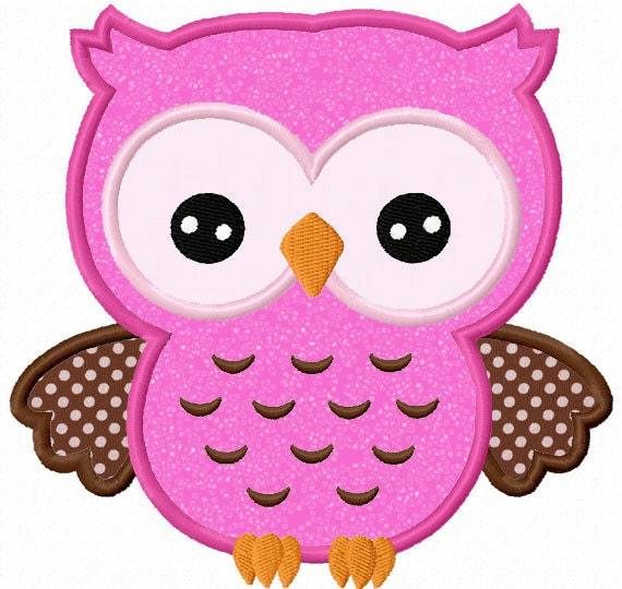 Owl Applique Machine Embroidery Design By LovelyStitchesDesign