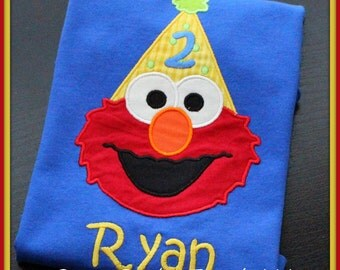 Elmo Personalized Birthday Number Shirt