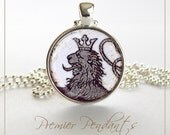 Rampant Lion Necklace Pendant Image Art Jewelry 1100SC