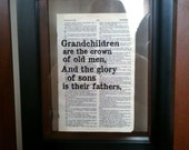 Biblical Quotes - Grandchildren are the crown of old men... - Proverbs 17:6