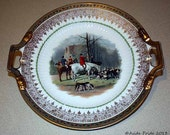 Vintage Imperial China Fox Hunting Plate