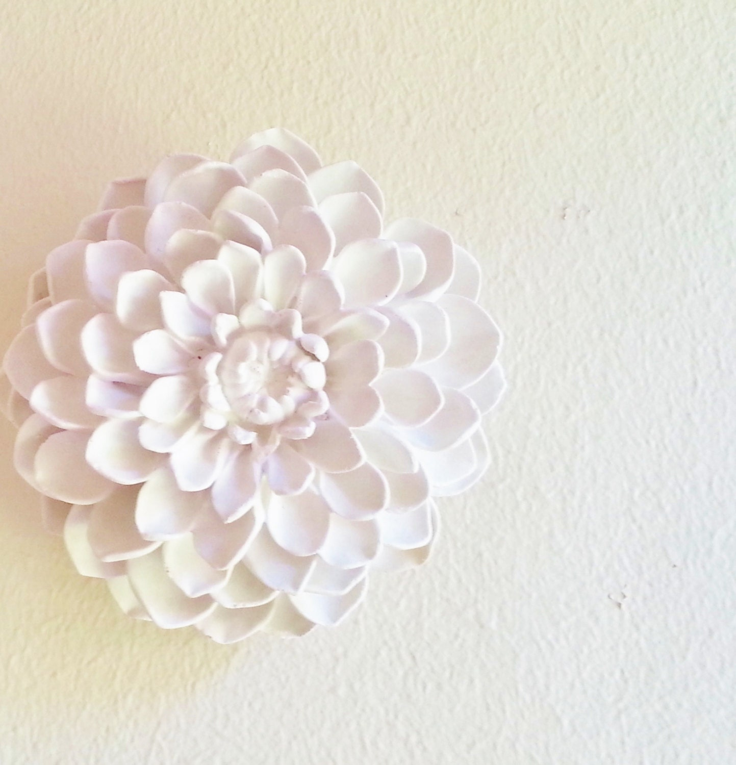 Wall Decor White Flowers : Dahlia flower sculpture boheme stone flowers modern