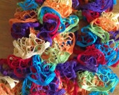 Knit Spiral Ruffle Scarf / Knit Fashion Scarf / Loopy Scarf - Available in 3 Different Colors